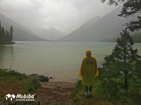 24. Экспедиция на Мультинские озера 2019 - Среднее Мультинское озеро. Начался дождь.jpg