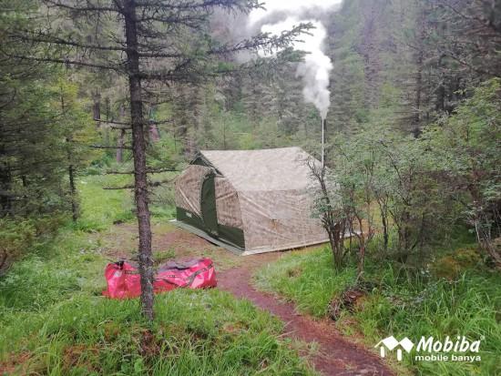 32. Экспедиция на Мультинские озера 2019 - установили палатку Роснар Р-34. Мобиба.jpg