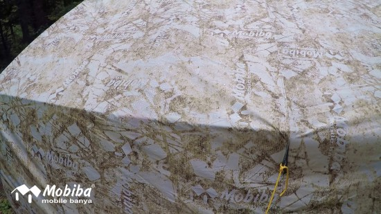 42. Экспедиция на Мультинские озера 2019 - внешний тент палатки Роснар Р-34 во время дождя.jpg