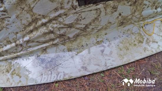 43. Экспедиция на Мультинские озера 2019 - внешний тент палатки Роснар Р-34 во время дождя.jpg