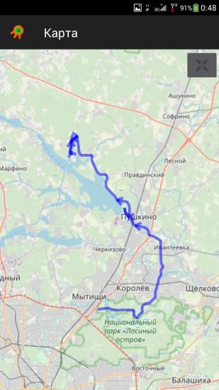 Путь от Дружбы до 78 км трека Дальние берега. И обратно..jpeg